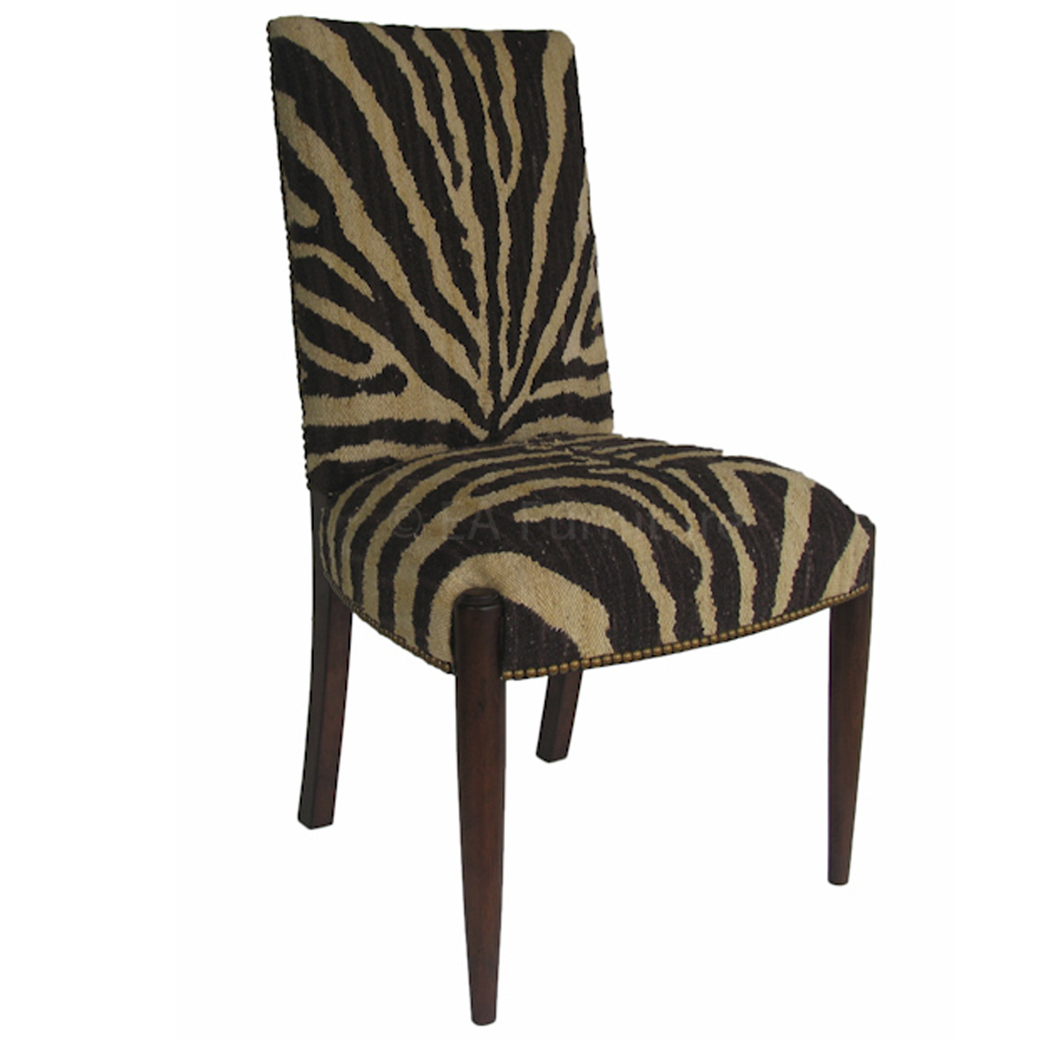 Black/Brown Zebra Side Chair CH27S BR10 5092AHS