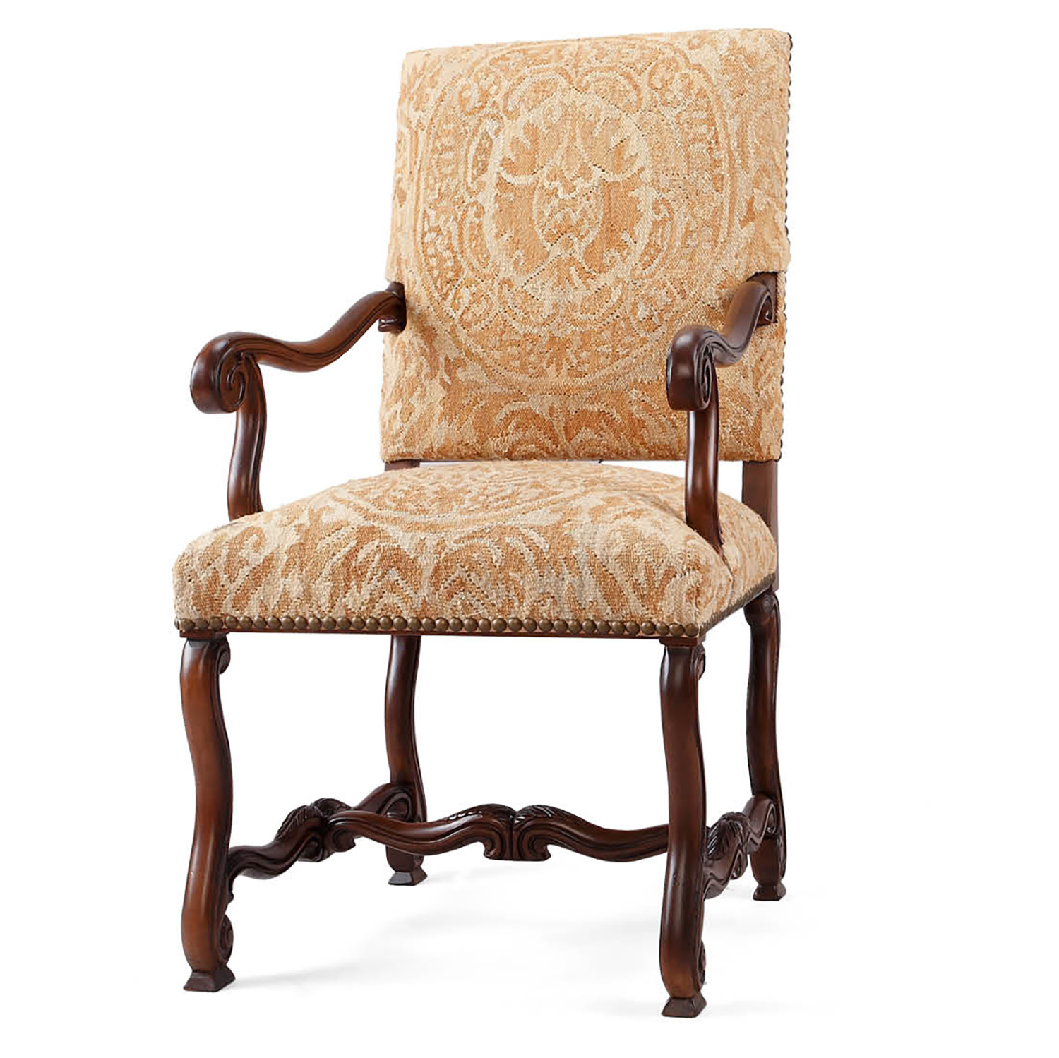 Ordinaire Brown Orsini Arm Chair CH28A BR11 5118BHS
